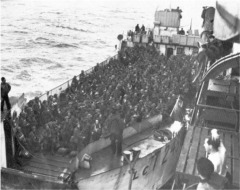 LCT loaded with infantry destined for Juno beach.