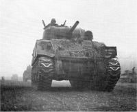 Sherman tanks on the move.